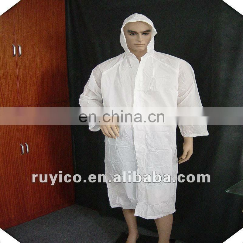 disposable plastic/PE rain coat for outdoor