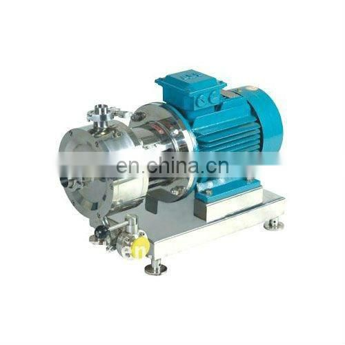 Pipeline high shear mixer for making lotion