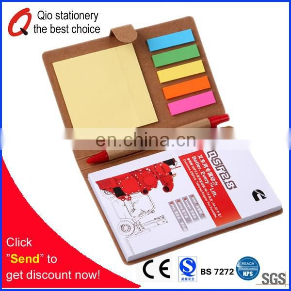Recycled portable stationery set for Notepad booklet with pens especially for promotion in office