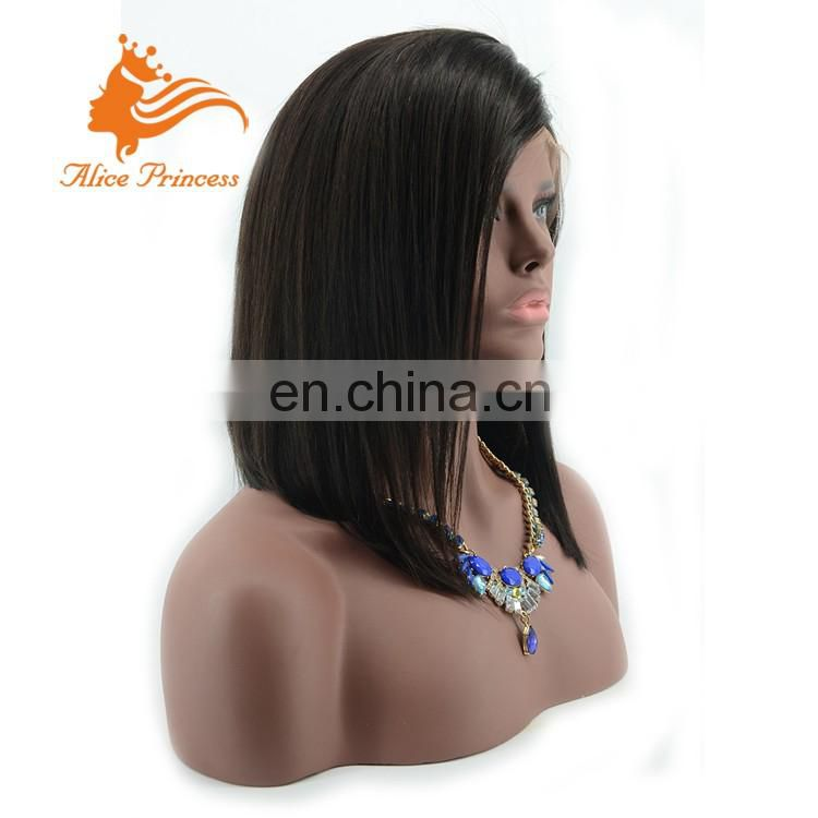 Wholesale Natural Straight Bob Wig Lace Front Wig Virgin Brazilian Hair Front Lace Wig