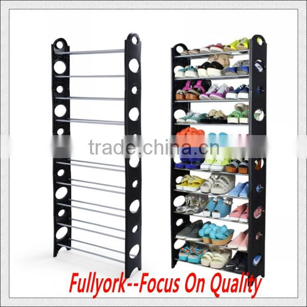 DIY Adjustable Shoe Rack 10 Tier Space Saving Storage Organizer Shoe Tower Rack Organiser