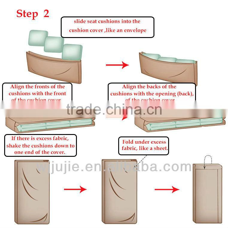 Stretch pique wing chair covers