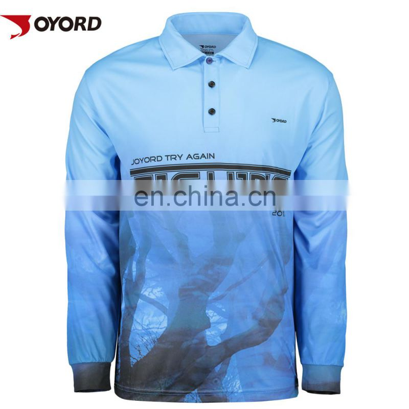 100% custom design branding logo fishing jersey shirt