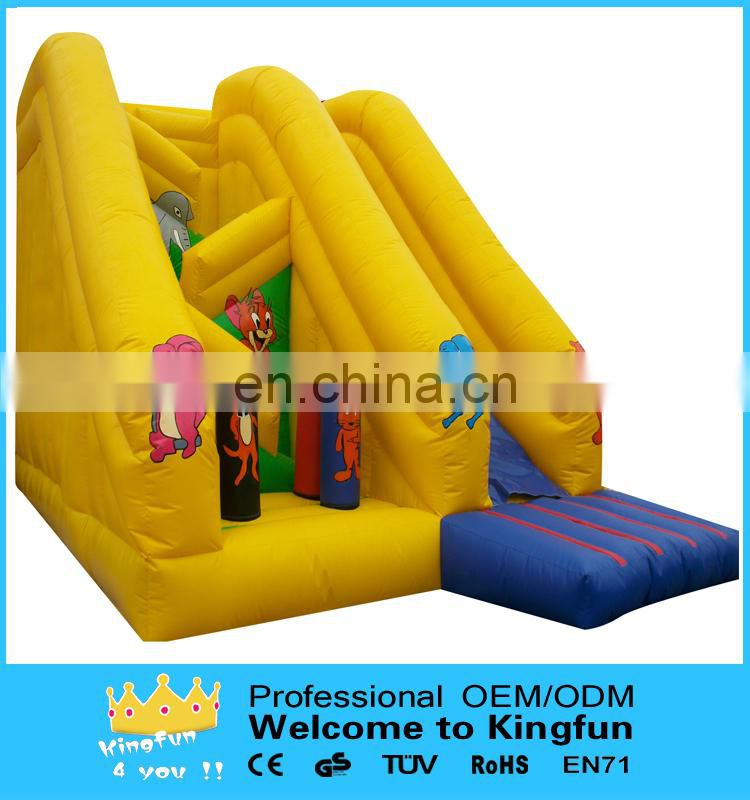 Zoo park inflatable slide for kids
