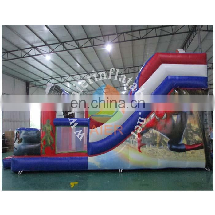 New spiderman inflatable slide /giant slide for sale