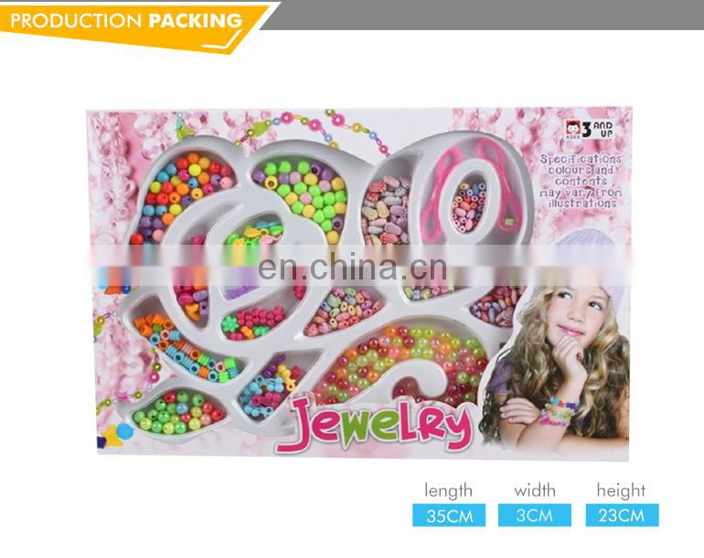 Fashion girls toy diy bead plastic jewelry for kids