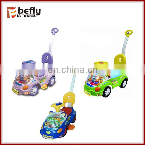 High quality red and bule plastic baby swing car