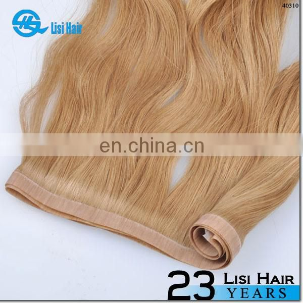 Super Tape No Shedding No Tangle No Dry 100% Human Hair skin weft clip in hair extensions
