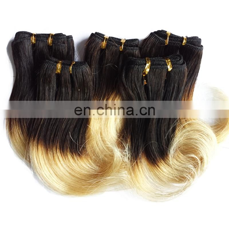 "Short length 6"" 8"" human hair weaving cheap ombre color 1b/27# hair bundles wholesale body wave brazilian hair"