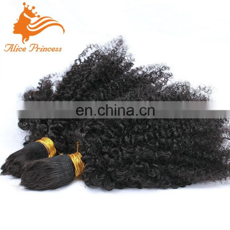 100% Premium Double Drawn Indian Remy Bulk Hair Afro Kinky Bulk Human Hair