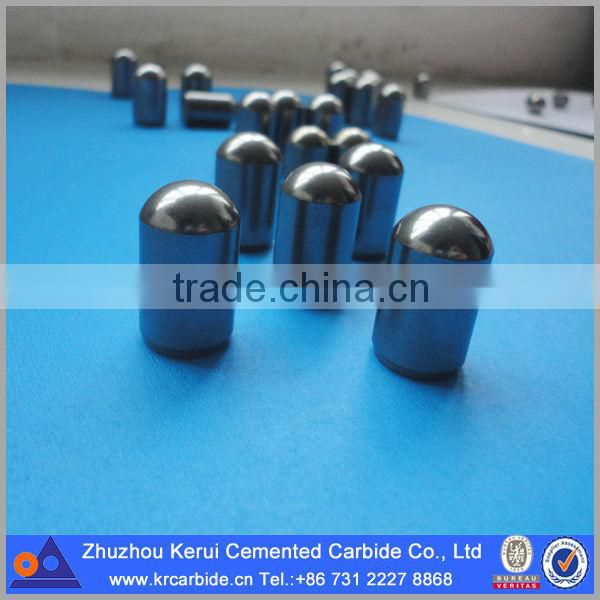 Cemented carbide mining products button inserts for drilling in different rock formations
