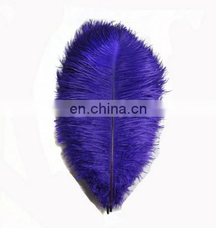 top sale 60-65cm blue ostrich feather from south Africa