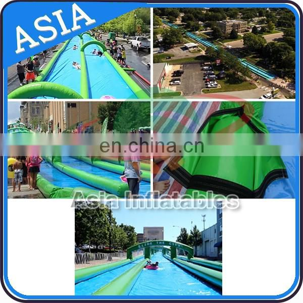 3 Lanes Inflatable Giant Water Slide Inflatable Slip N Slide