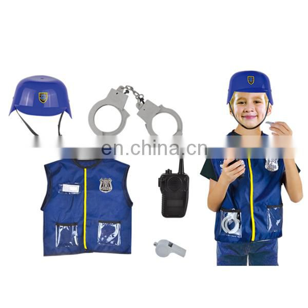 Cosplay boys wholesale high quality children police costume