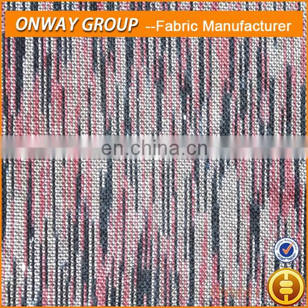 Onway Textile Printed Winter Garments Fabric Knitting Polyester Sweater Fabric