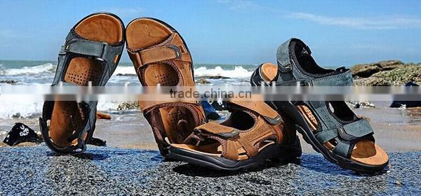 2016 Fashion kids Nude Sandals Leather cowhide Beach Shoes Children Sandals Summer Shoes Boys Leather Sandals Baby Beach Sandals