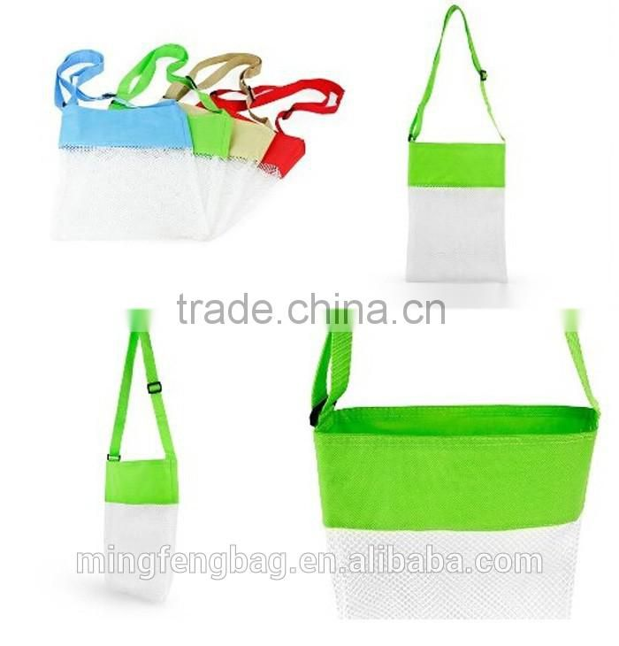 Custom New Folding Sand Beach Tote Mesh Bag for Swim Toys and Boating