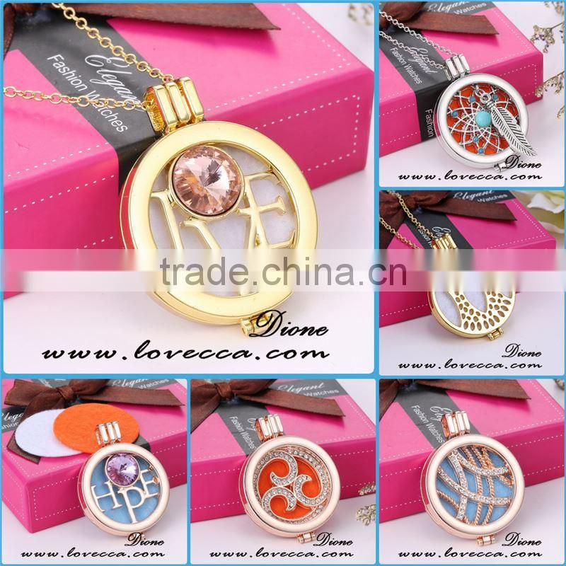 Factory wholesale stainless steel aromatherapy locket necklace