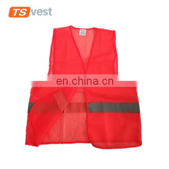 Red color normal style promotional cheap safety vest