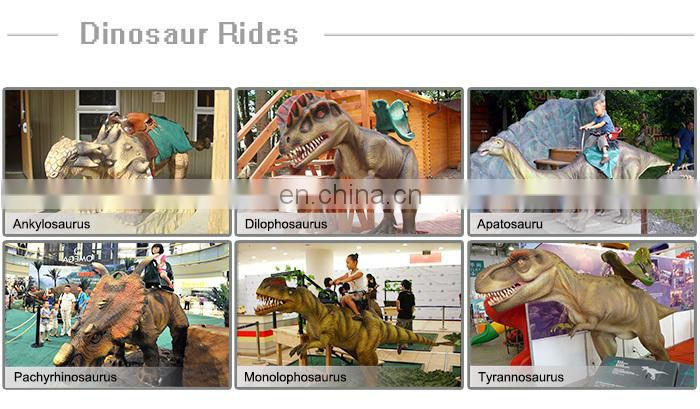 Outdoor dinosaur kiddie ride for amusement riding