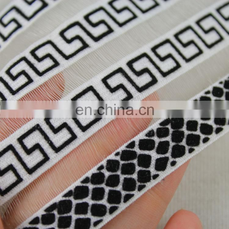 China wholesale special design jacquard elastic webbing