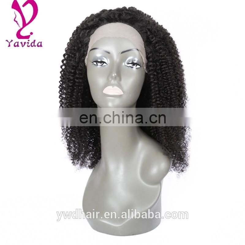 "8-26"" Cheap Full Lace Wigs Brazilian Hair Front Lace Wig Glueless Afro Kinky Curl Wigs With Baby Hair Free Shipping"