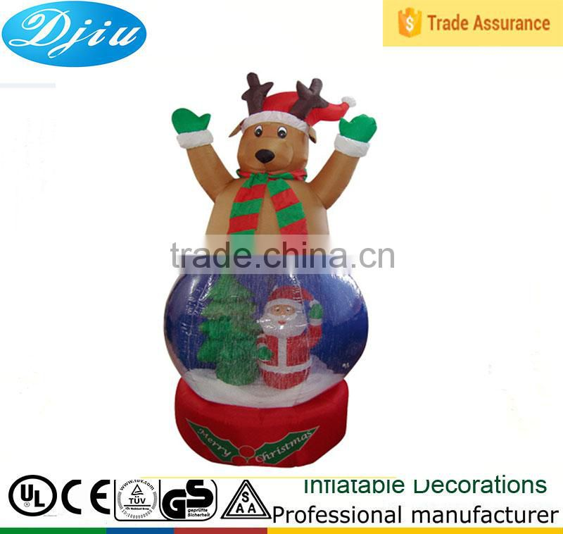 DJ-B-108 outdoor large wholesale clear plastic christmas ball ornaments deer decor