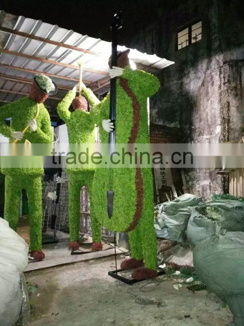 life size large top party artificial landscape uv resin plastic animal leaf alphabet letter rabbit statue E08 23A12