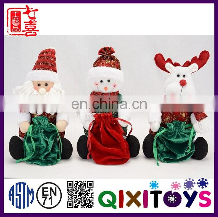 The latest Chrismas creative gifts 2016 redeer toy with candy bag