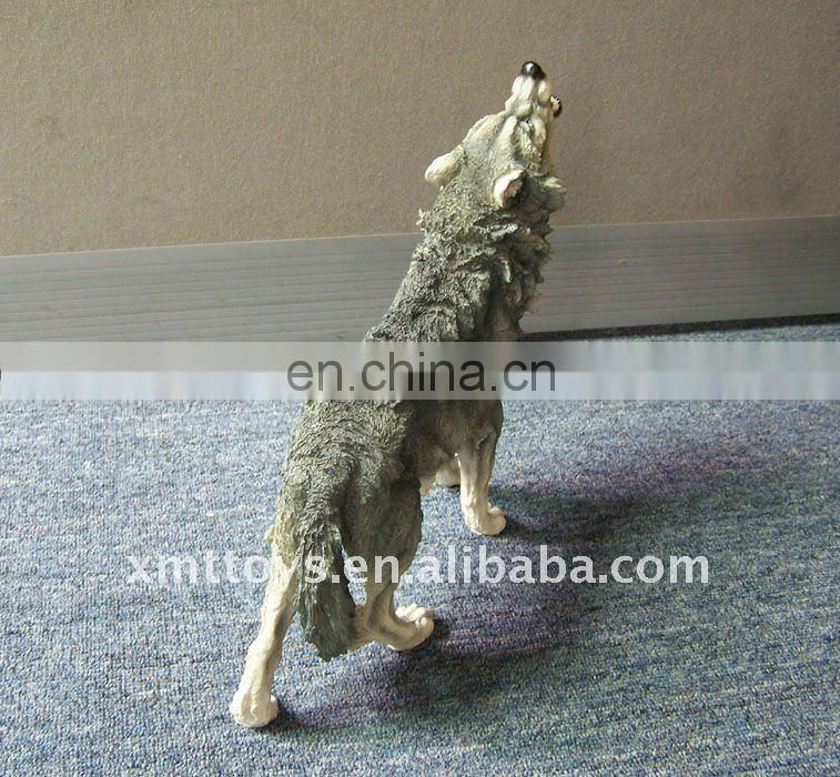 polyresin wolf, resin wolf craft