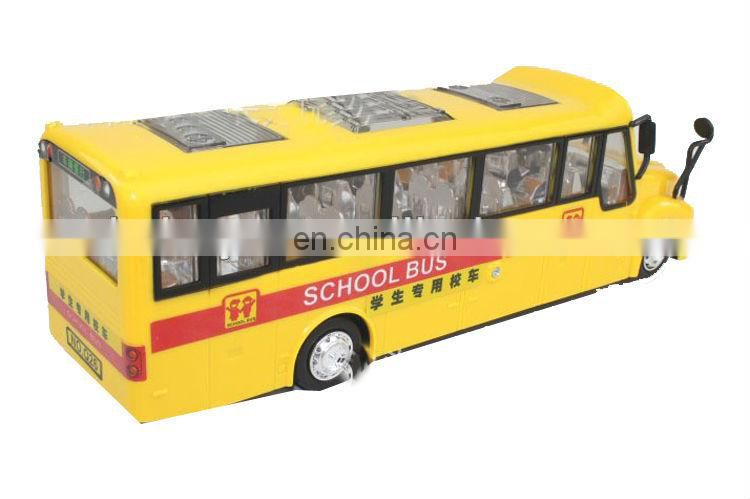 Electric plastic modle school bus for good sale