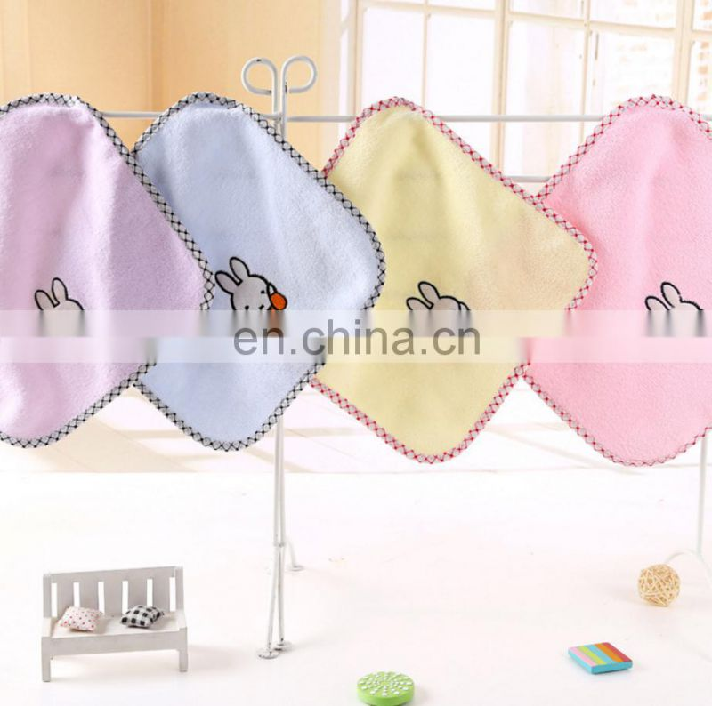 Wholesale Embroidered Custom Microfiber Kid Hand Towel with Logo