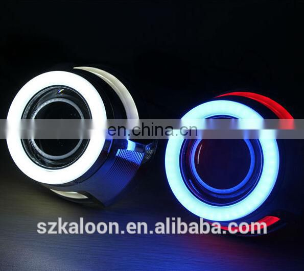 Projector lens for LED double angel eye bi-xenon projector lens with turn light