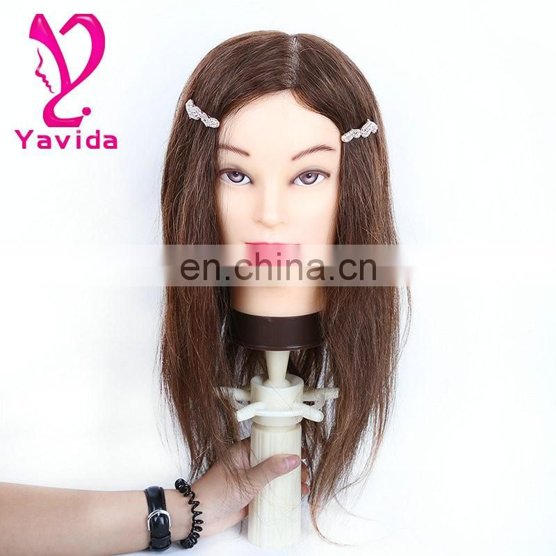 female mannequin human hair salon training head