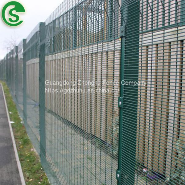8ft welded wire mesh fencing green vinyl coated clearvu fence for ...