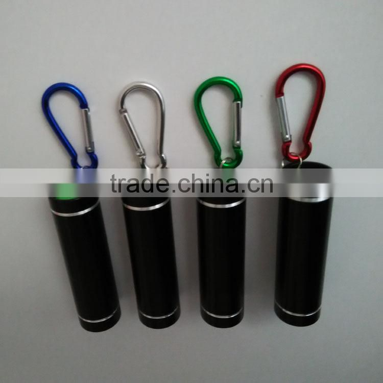 red light AAA battery led flashlight cheap flashlight gift led torch flashlight carabiner flashlight