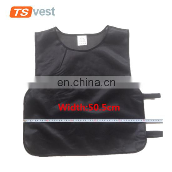 Elastic band cheap black child waistcoat for outdoor activities