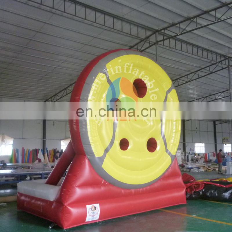 Outdoor funny inflatable football shot sport game, inflatable foot darts for sale,Inflatable soccer darts board