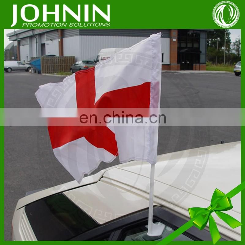 cheap any logo custom design polyester car mirror flag for promotion