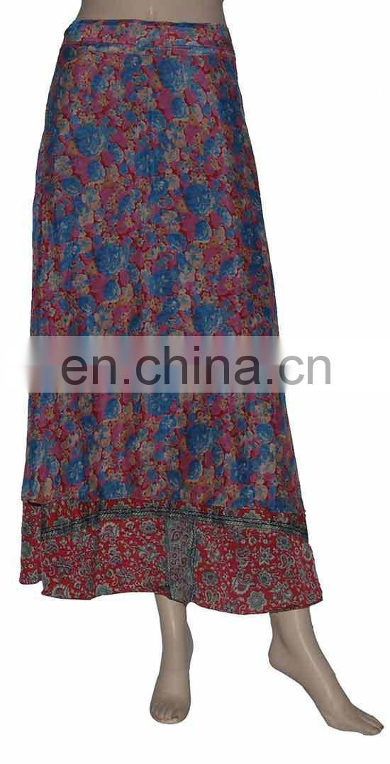 Old Silk Saree Recycled Multiwear Indian Magic Vintage Wrap Skirt
