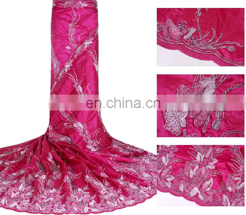 african heavy satin lace fabric for wedding party