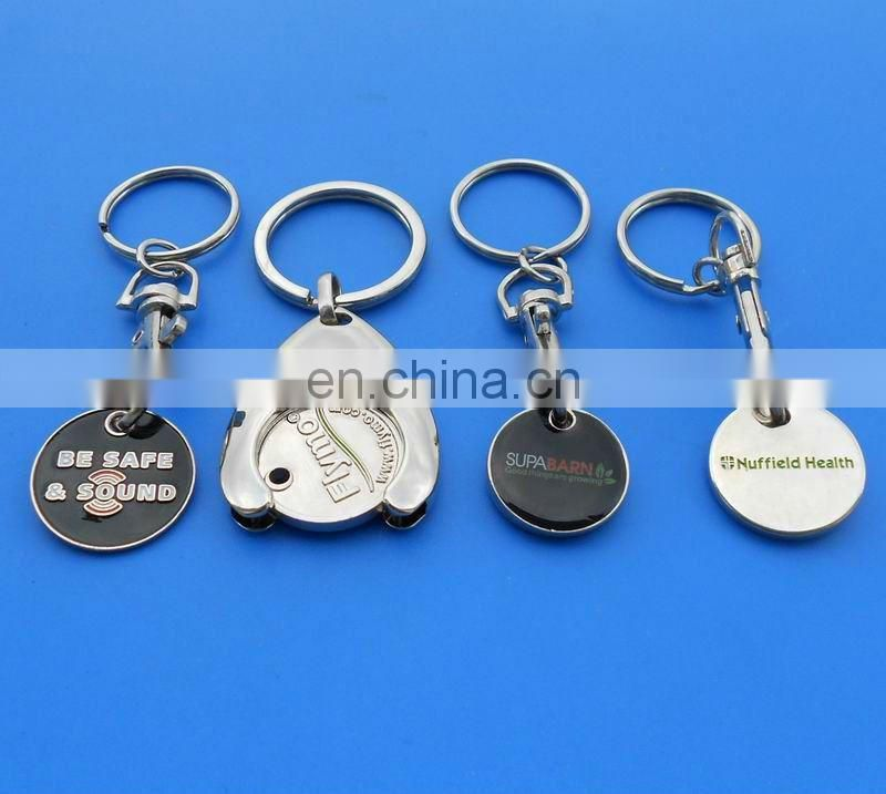 Century 21 trolley coin shopping cart keychain