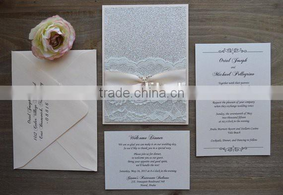 best selling Fresh Letterpress wedding invitations cards with factory price