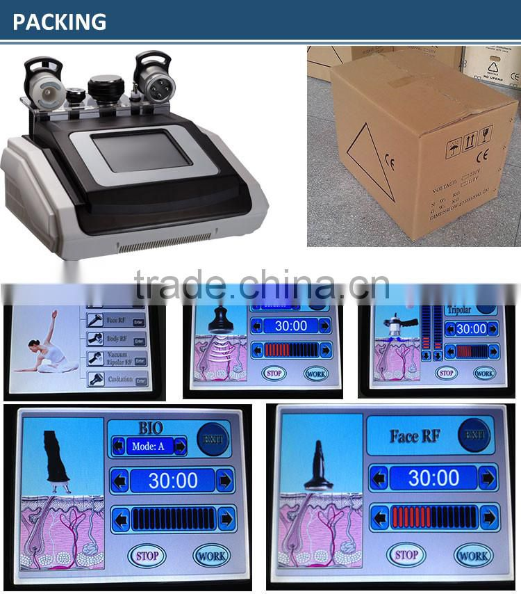 Latest multi-function cavitation rf beauty salon equipment