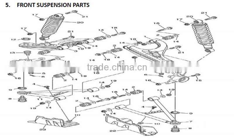 Differential,Rear Gear Box,Rear Diff,HiSun, 400cc, HS400ATV