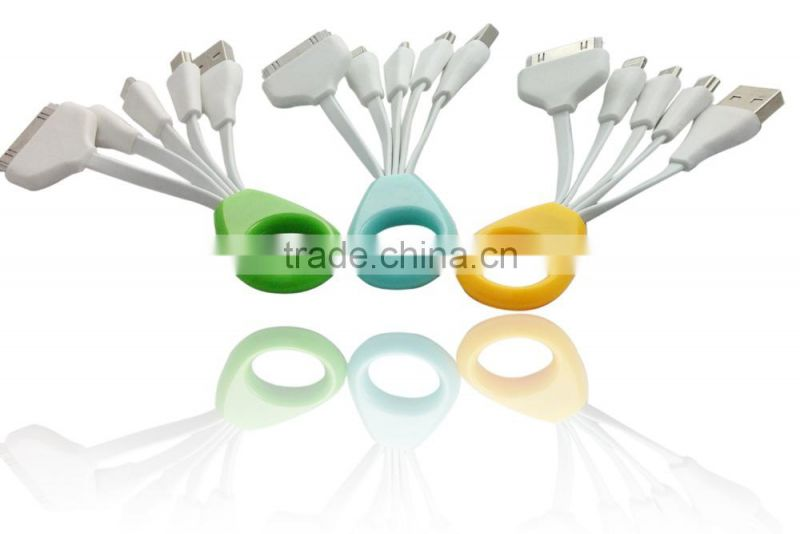 4-in-1 Multi USB Adapter Charging Cable Connector for Iphone 6, 6 Plus, 5 / 5s / 5c, Ipad,Smartphones