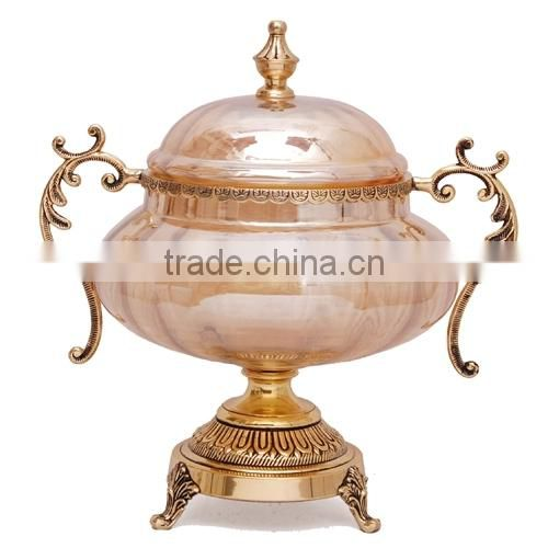 brass crystal centerpiece home decoration