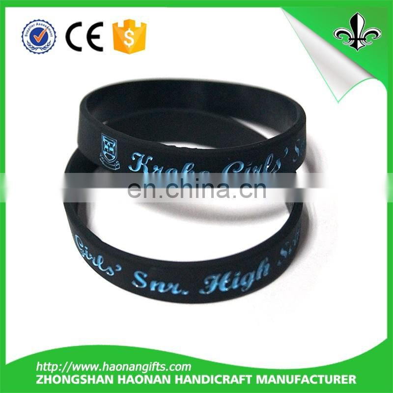 Merchandise custom design cheap dj silicone bracelet glow in the dark