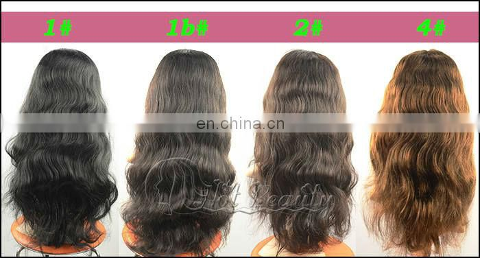 Fashionable in style 28 inches brazilian body wave hair full lace wig