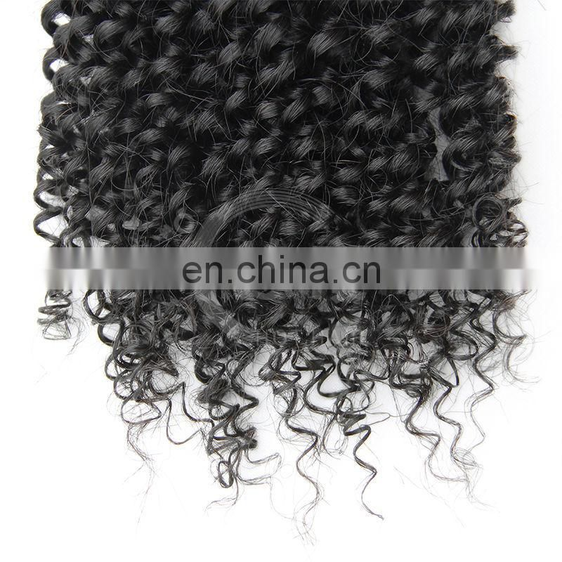 High quality hair extension cheap kinky kurly wig brazilian human hair